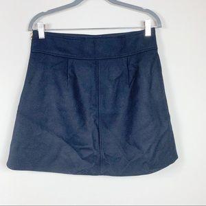 J. Crew Skirts - J.crew Mini skirt double-serge wool 6 black #F8325